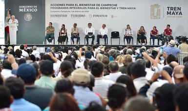 María Luisa Albores informa sobre los avances de los Programas Integrales de Bienestar en Campeche