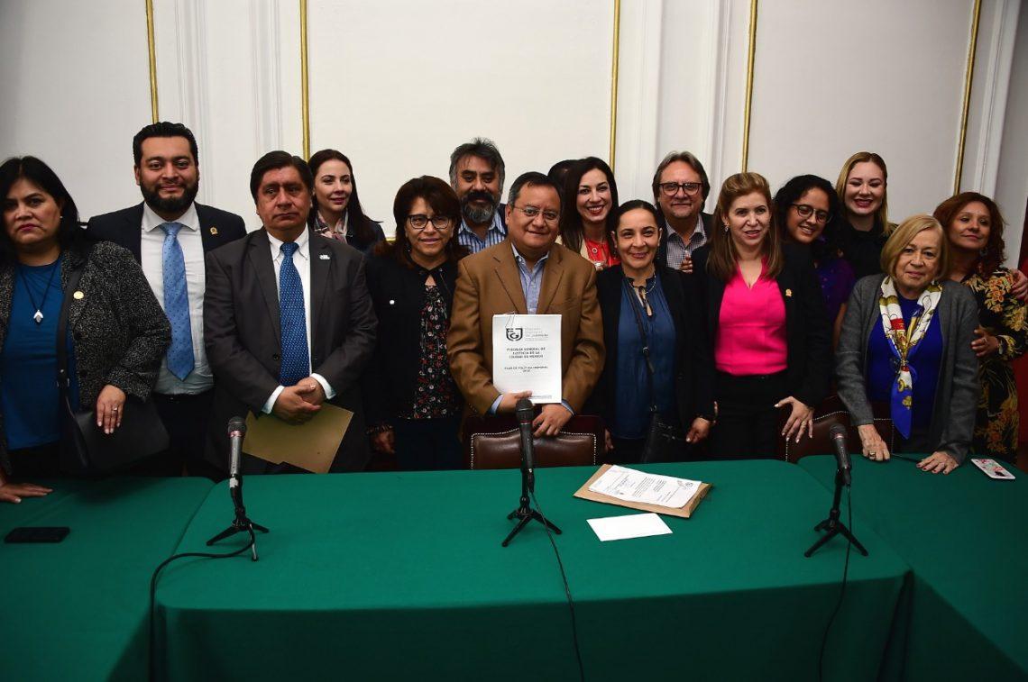 El Congreso capitalino recibió el Plan de Política Criminal de la Fiscalía General de la CDMX