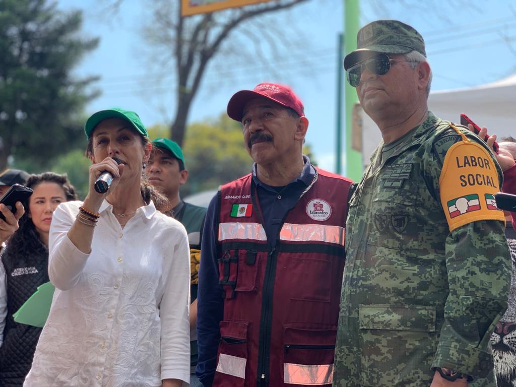 Celebrarán Gobierno de la Ciudad de México y Sedena Tequios conjuntos cada primer sábado del mes