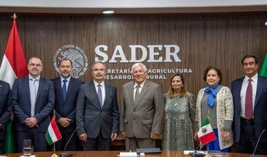 Firman México y Hungría memorando en materia de agricultura, ganadería, desarrollo rural, pesca y acuacultura