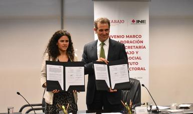 Firman STPS e INE Convenio de Colaboración para impulsar Reforma Laboral