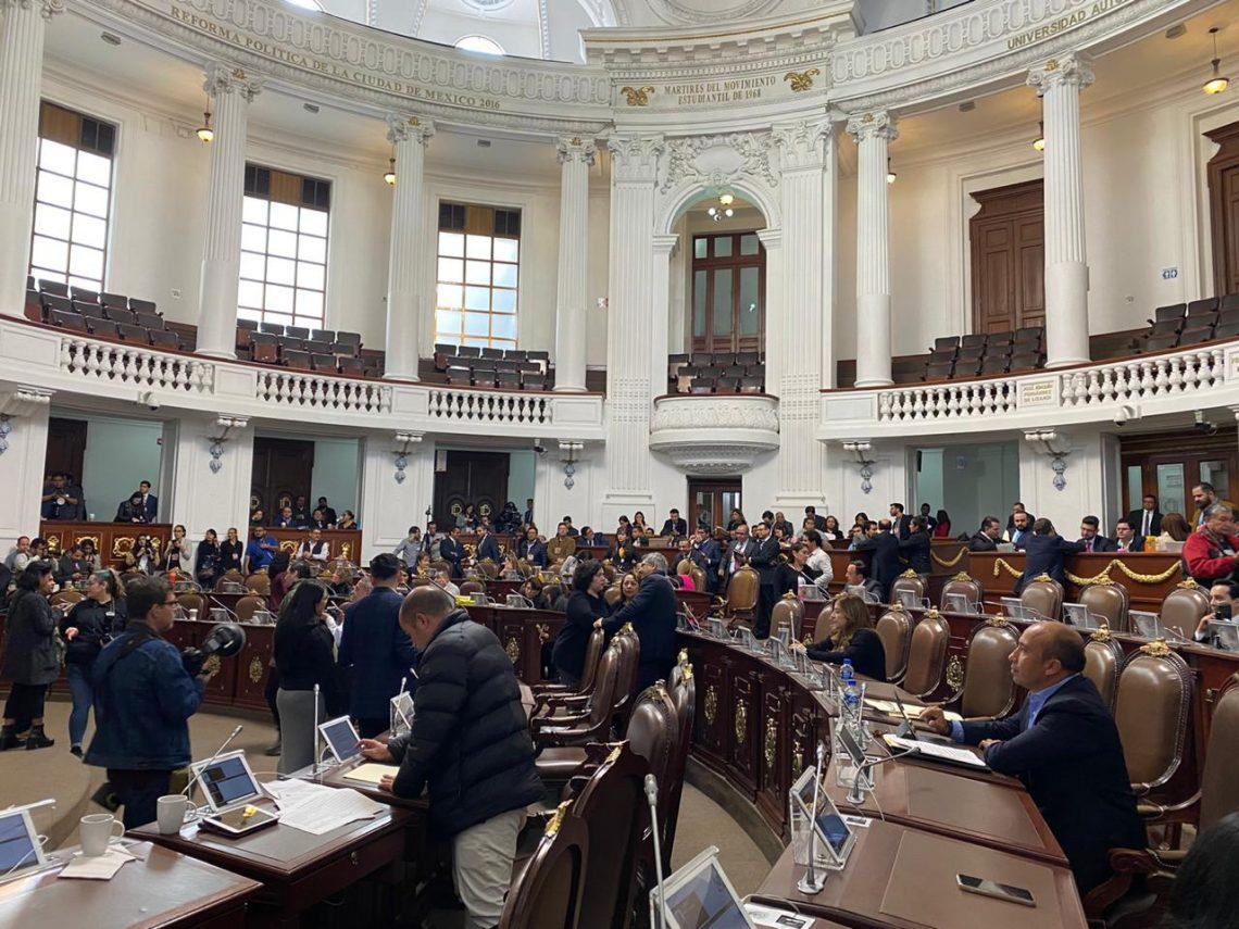 Realizan pronunciamiento para recordar los aniversarios de las Constituciones federal y de la Ciudad de México