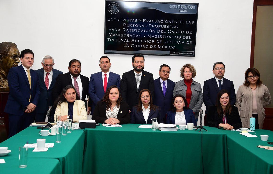 La Comisión de Administración y Procuración de Justicia del Congreso local inició las entrevistas para ratificación de magistrados del TSJ