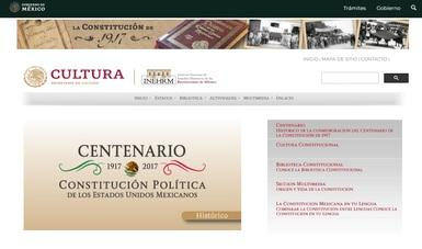 Reactiva el INEHRM página web sobre la Constitución de 1917