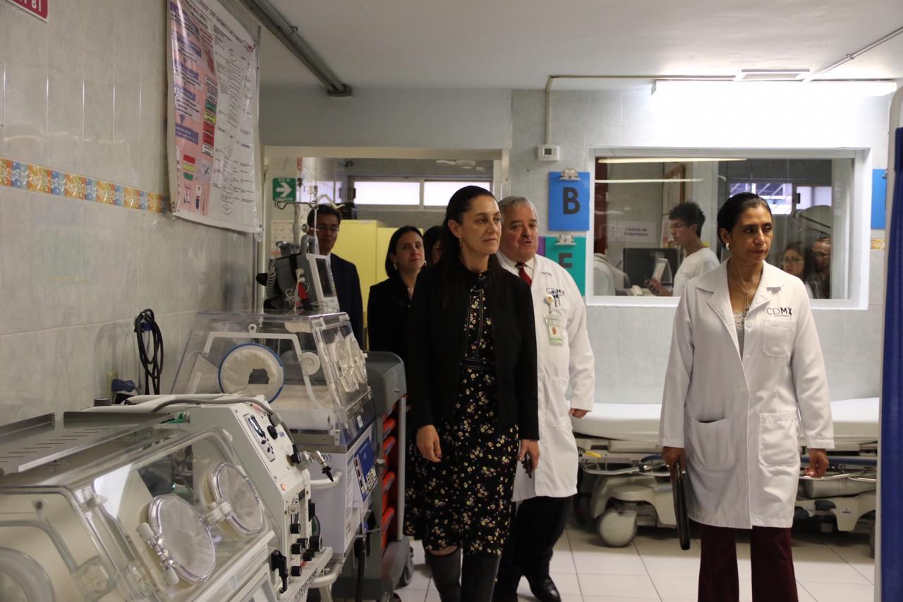 Revisa Jefa de Gobierno instalaciones médicas del Hospital Pediátrico Azcapotzalco