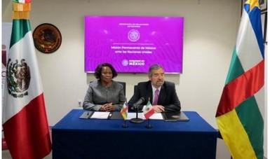 México establece relaciones diplomáticas con la República Centroafricana