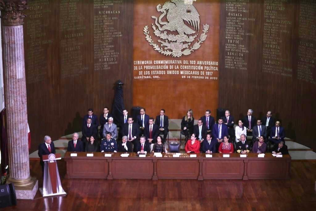 Asiste Jefa de Gobierno a ceremonia del 103 aniversario de la Promulgación de la Constitución Política de los Estados Unidos Mexicanos