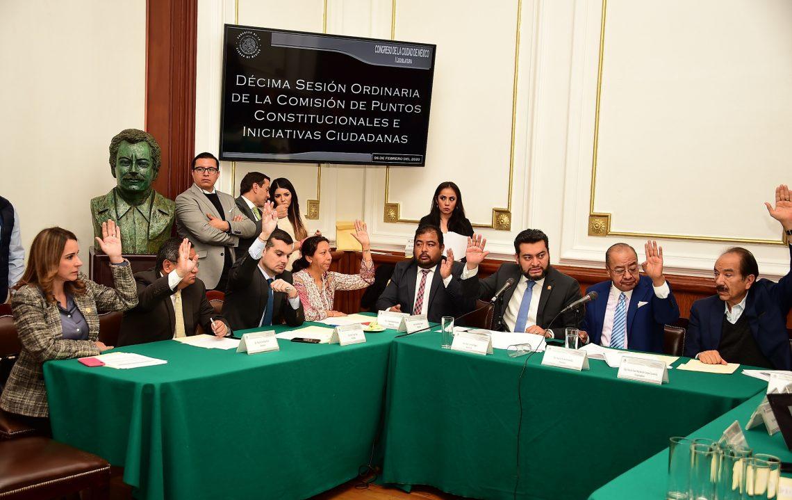 La Comisión de Puntos Constitucionales e Iniciativas Ciudadanas del Congreso de la CDMX aprueba diversos dictámenes