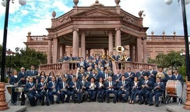 Banda de Música del Gobierno del Estado de San Luis Potosí lleva alegría a las plazas públicas