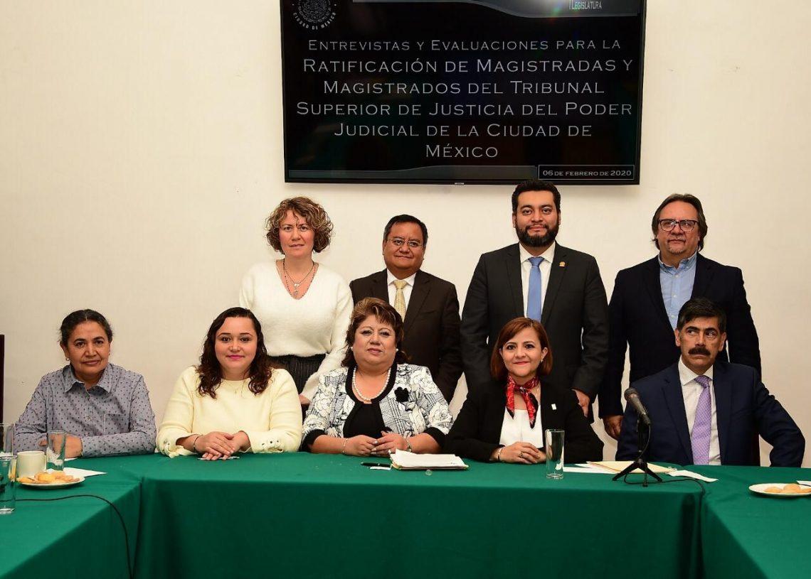 Concluyó el proceso de entrevistas para ratificación de magistrados del Tribunal Superior de Justicia de la CDMX