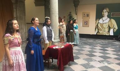 Presentaron Vicario madre, Leona de la patria, montaje de la compañía El Tequio de San Miguel