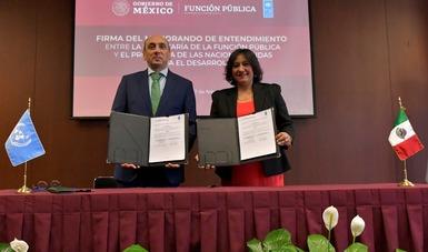 Función Pública firma Memorando de Entendimiento con el PNUD para un combate global a la corrupción