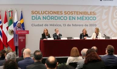 Mensaje de la Secretaria de Economía, Graciela Márquez, en el evento Soluciones Sostenibles: Día Nórdico en México