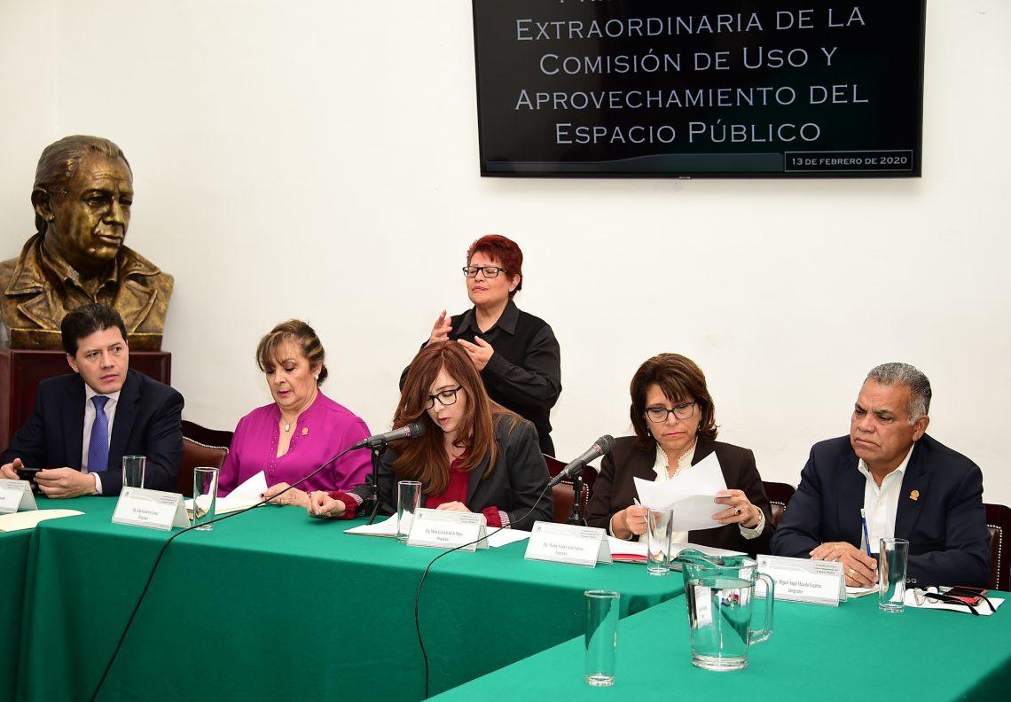 La Comisión de Uso y Aprovechamiento del Espacio Público emitió opinión a la iniciativa ciudadana para el trabajo no asalariado