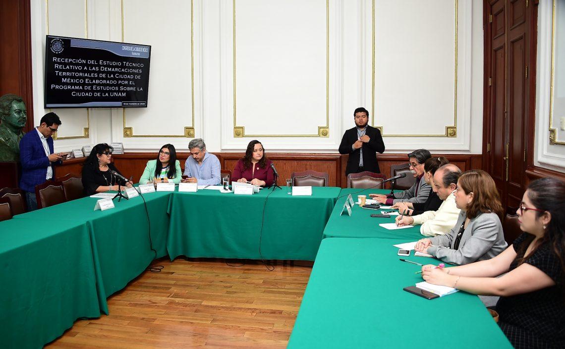 Reciben diputadas y diputados estudio técnico de la UNAM sobre la división de demarcaciones territoriales de la Ciudad de México