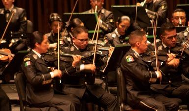 La Orquesta Sinfónica de la Sedena se presenta en el Palacio Bellas Artes