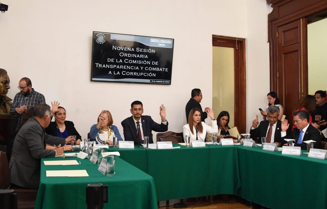 La Comisión de Transparencia y Combate a la Corrupción aprobó el dictamen de la Ley del Sistema Anticorrupción de la CDMX