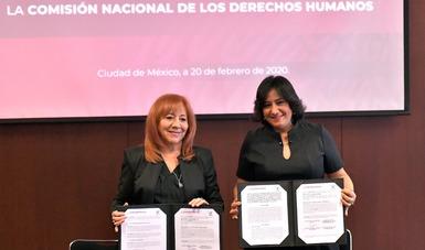 Fortalecen Función Pública y CNDH un servicio público ético y garante de los Derechos Humanos