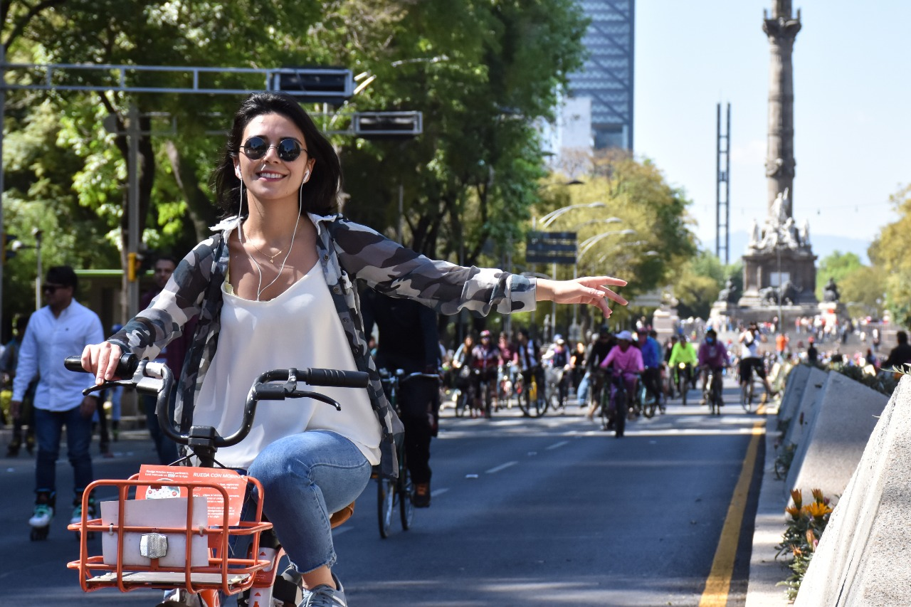 Domingo de ciclotón Ciudad de México correspondiente a febrero