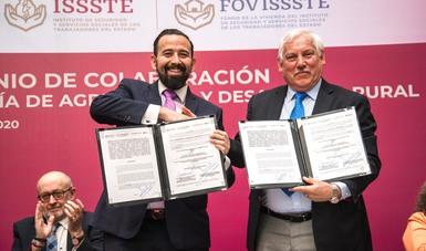 Promueven Agricultura y FOVISSSTE entrega de vivienda a empleados de los sectores central y  descentralizados
