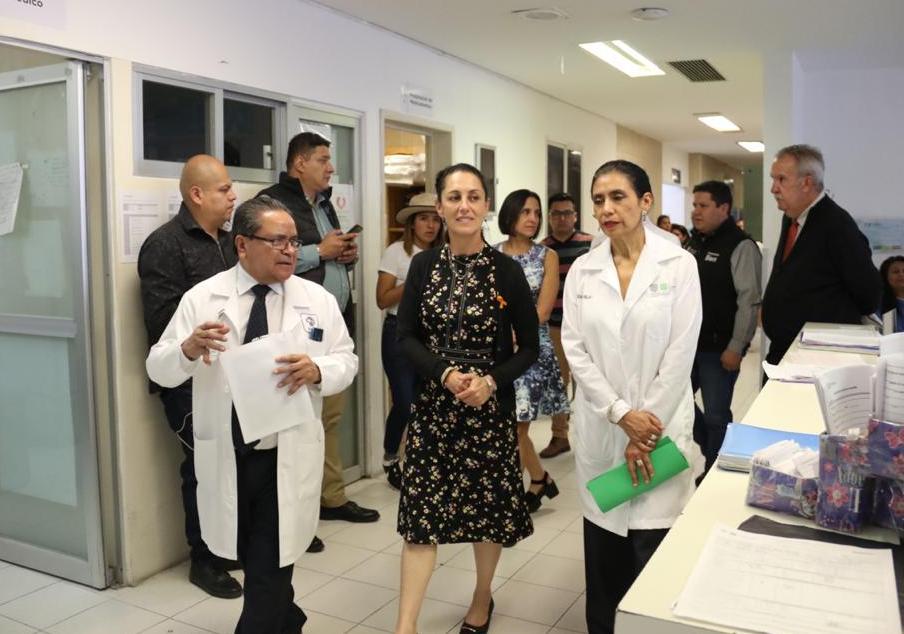Visita Jefa de Gobierno Hospital General Milpa Alta
