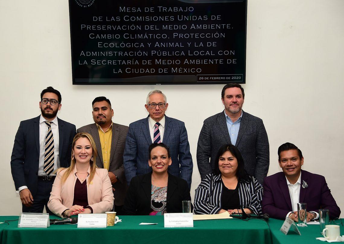 Diputados locales realizan mesa de trabajo con funcionaria de la Secretaría de Medio Ambiente