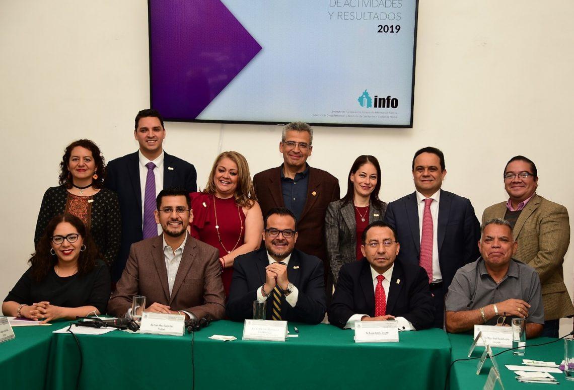 Comisionado presidente del Info CDMX presentó su Informe Anual de Labores ante el Congreso local