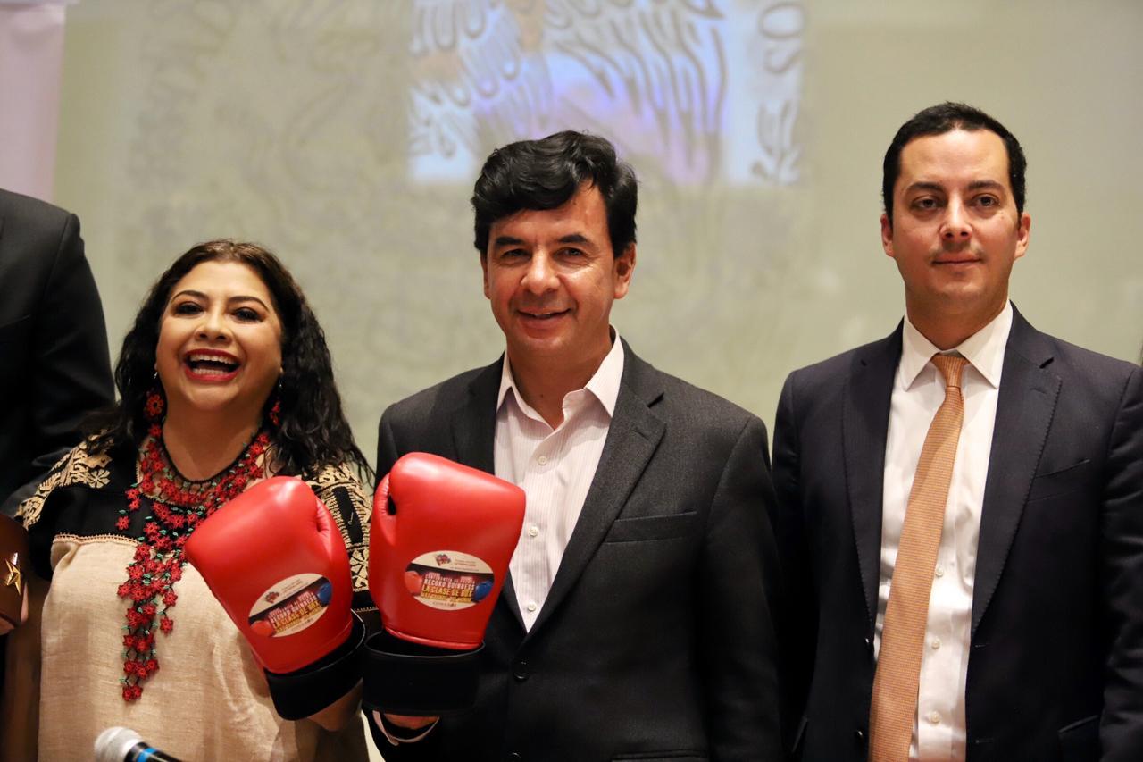 El 14 de marzo la clase de boxeo más grande del mundo en el Zócalo de la Ciudad de México
