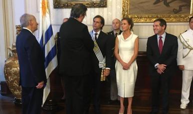 El canciller Marcelo Ebrard asistió a la toma de posesión del presidente de la República Oriental del Uruguay, Luis Lacalle Pou
