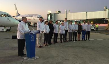 Inaugura Miguel Torruco la Ruta del Sureste  de Aeromar