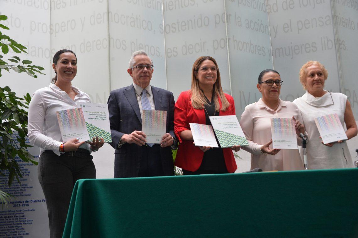 El Congreso de la Ciudad de México recibió el Informe de Asuntos Internacionales del gobierno capitalino