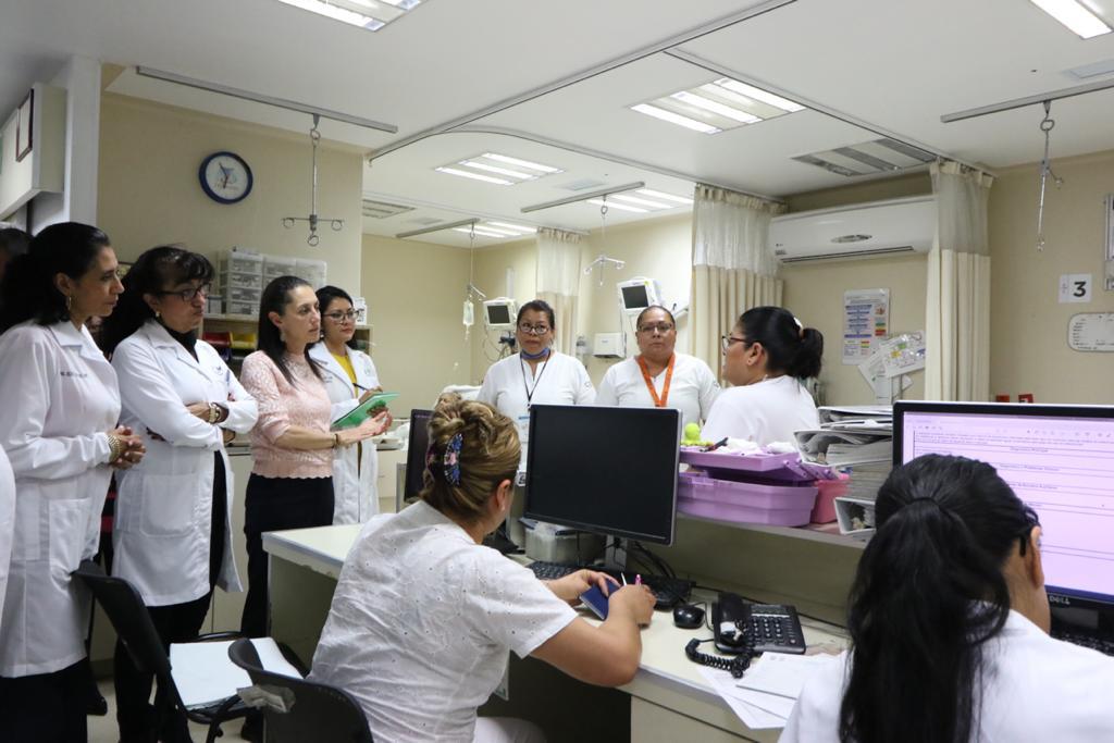 Revisa Jefa de Gobierno instalaciones y operación del Hospital General Dr. Gregorio Salas Flores