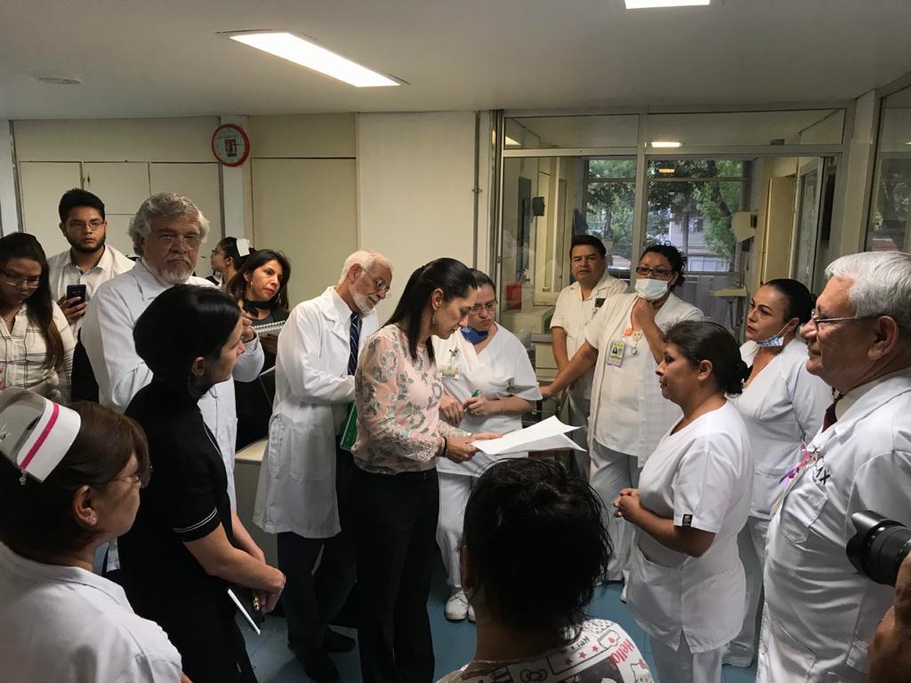 Supervisa Jefa de Gobierno funcionamiento e instalaciones de Hospital General Balbuena