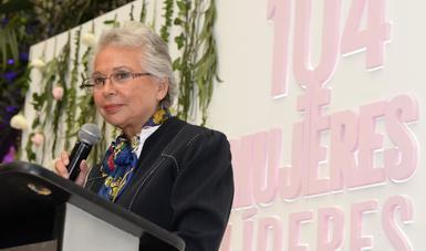 """Palabras de la secretaria Olga Sánchez Cordero, en el encuentro """"104 Mujeres Líderes"""""""
