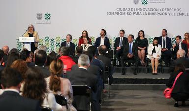 """Mensaje de la secretaria de Economía, Graciela Márquez, en el anuncio del """"Compromiso para la inversión y el empleo"""""""