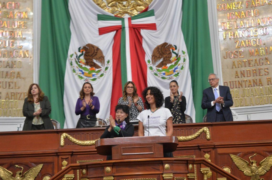 El Congreso de la Ciudad de México entrega la Medalla al Mérito Hermila Galindo