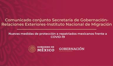 Nuevas medidas de protección a repatriados mexicanos frente a COVID-19