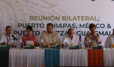 Acuerdan intercambio comercial marítimo entre Puerto Chiapas, México, y Puerto Quetzal, Guatemala