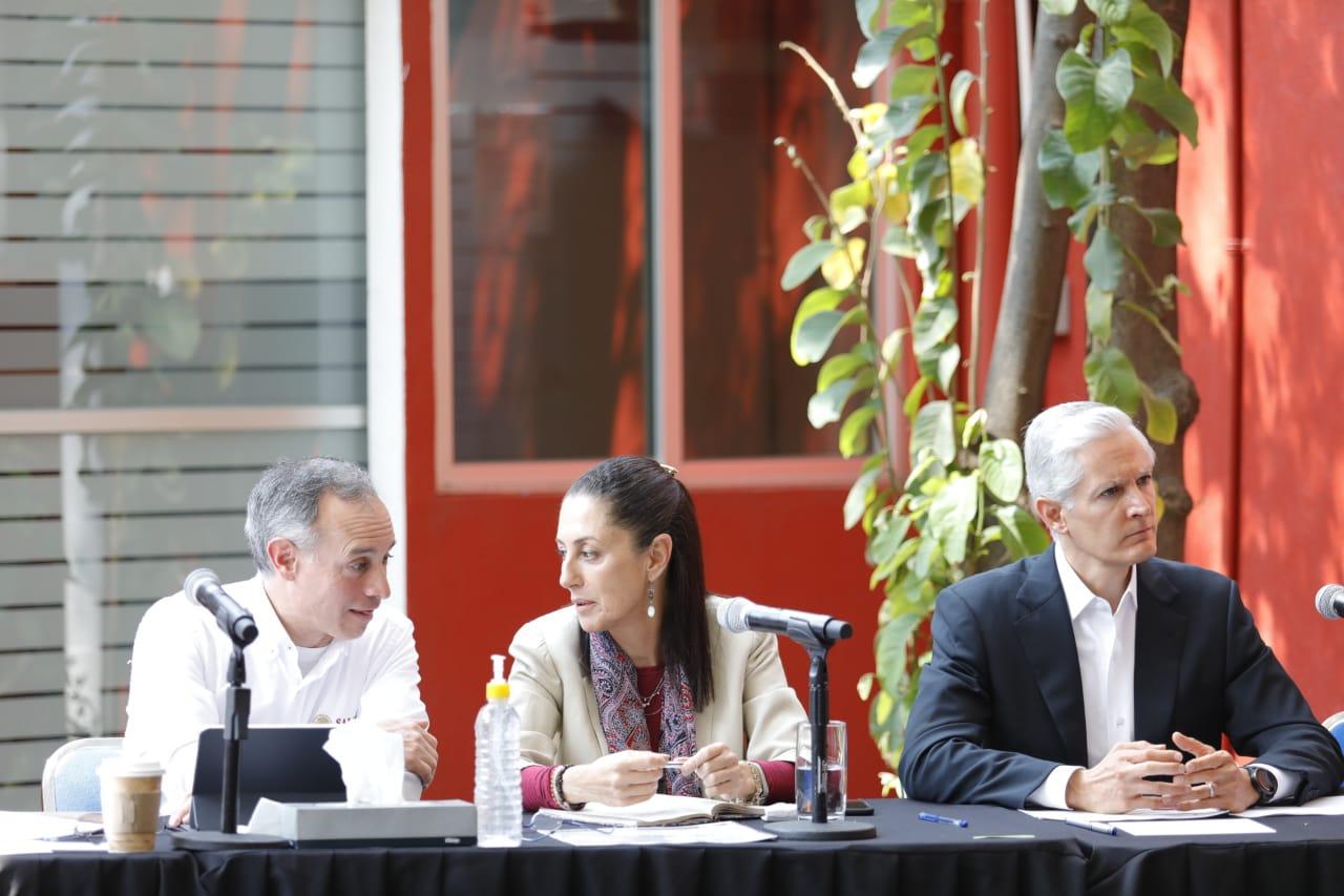 Acuerdan Gobierno Federal, Ciudad de México y Estado de México estrategia conjunta ante COVID-19