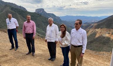 Supervisan trabajos de construcción de la carretera Badiraguato–Guadalupe y Calvo