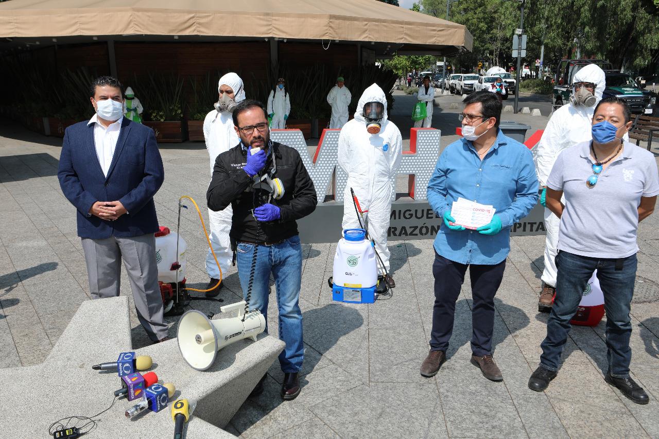 Sanitizan Polanco como medida preventiva ante COVID-19