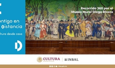 """""""Contigo en la distancia"""" desde el Museo Mural Diego Rivera"""