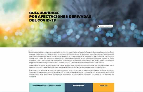 Participa la UNAM en elaboración de guía de orientación jurídica ante COVID-19