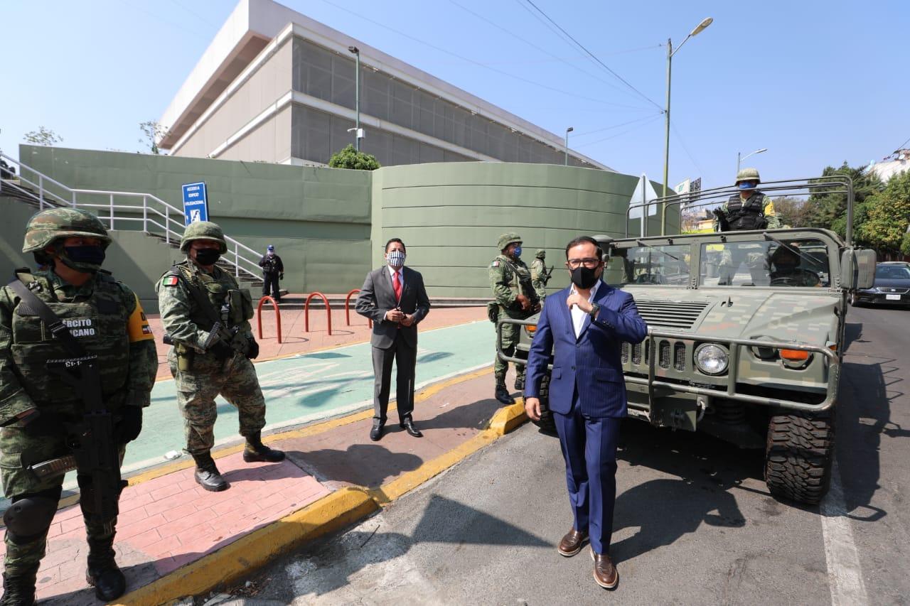 Llega la Guardia Nacional a Miguel Hidalgo