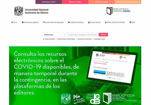 Biblioteca Digital, una de las plataformas más visitadas en la UNAM durante la contingencia