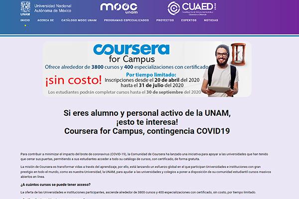 De la UNAM, ocho de los 10 cursos en línea más buscados por los mexicanos