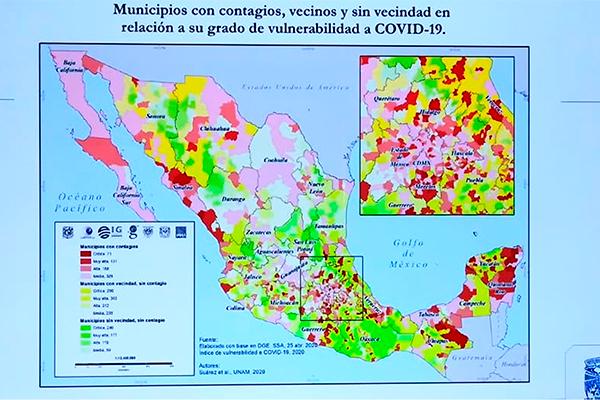 Desarrolló la UNAM Índice de Vulnerabilidad en México ante la COVID-19