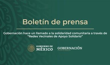 """Gobernación hace un llamado a la solidaridad comunitaria a través de """"Redes Vecinales de Apoyo Solidario"""""""