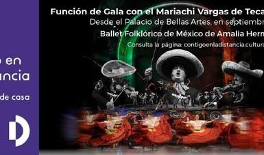 Mariachi Vargas de Tecalitlán y Ballet Folklórico de México ofrecen espectáculo multicolor por internet