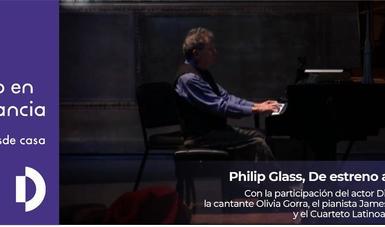 A disfrutar De estreno a los 80, concierto de Philip Glass en internet